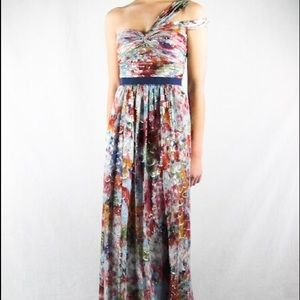 BCBG Igna Multicolor Long Formal Dress